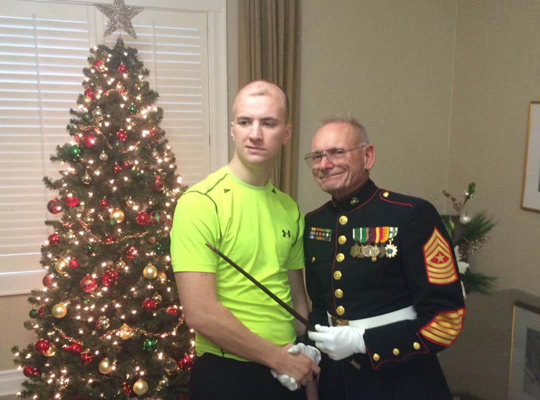 LCpl Michael Penn-Patient Balboa Naval Hospital (Therapy after Stage 4 brain cancer surgery)-11/15