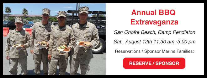 2017 Annual BBQ Extravaganza, 8/12 11:30-3 San Onofre Camp Pendleton